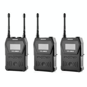 YELANGU YLG9929B MX4 Dual-Channel 100CH UHF draadloos microfoonsysteem met 2 zenders en ontvanger voor DSLR-camera's en videocamera's(zwart)