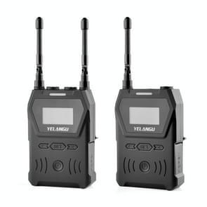 YELANGU YLG9929C MX4 Dual-Channel 100CH UHF draadloos microfoonsysteem met zender en ontvanger voor DSLR-camera's en videocamera's(zwart)