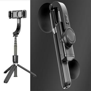 L08 Verstelbare Gimbal stabiliseren Bluetooth Self-timer Pole Statief Selfie Stick (Zwart)