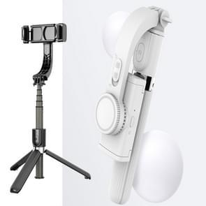 L08 Verstelbare Gimbal stabiliseren Bluetooth Self-timer Pole Statief Selfie Stick (Wit)