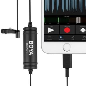 BOYA BY-DM1 8 Pin Interface Plug Professional Lavalier Microphone, Cable Length: 6m(Black)