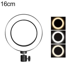 Live Broadcast Self-timer Dimming Ring LED Beauty Selfie Light with Tripod Ball Head, Selfie Light Diameter: 16cm