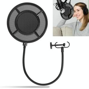 Yanmai PS-1 Dual-layer Recording Microphone Studio Wind Screen Pop Filter Mask Shield, For Studio Recording, Live Broadcast, Live Show, KTV, etc(Black)