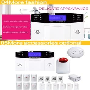 YA-500-GSM-33 20 in 1 Kit Wireless 315/433MHz GSM SMS Security Home House Burglar Alarm System with LCD Screen
