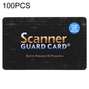 100 PCS Scanner Guard Card RFID Blocking Card, Built-in Patented ID Protection