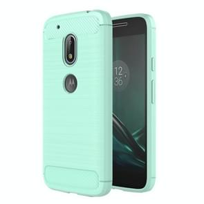 For Motorola Moto G4 Play Brushed Texture Fiber TPU Rugged Armor Protective Case(Green)