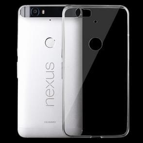 For Google Nexus 6P 0.75mm Ultra-thin Transparent TPU Protective Case(Transparent)