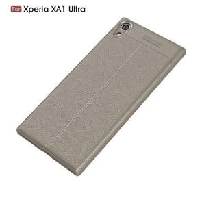 Voor Sony Xperia XA1 Ultra Litchi textuur TPU beschermende Back Cover Case(Grey)
