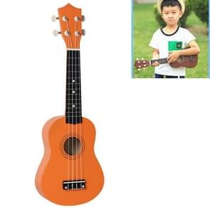 HM100 21 inch Basswood Ukulele Children Musical Enlightenment Instrument (Orange)