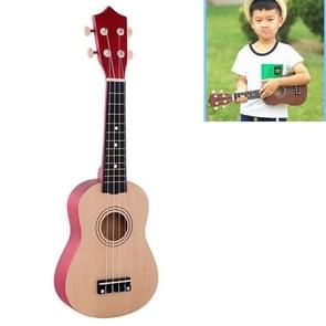 HM100 21 inch Basswood Ukulele Children Musical Enlightenment Instrument (Khaki)