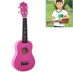 HM100 21 inch Basswood Ukulele Children Musical Enlightenment Instrument (Magenta)