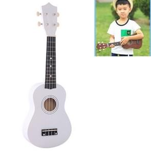 HM100 21 inch Basswood Ukulele Children Musical Enlightenment Instrument (White)