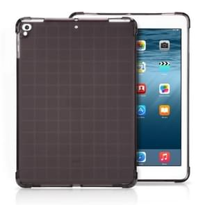 Transparent TPU Full Edge Thicken Corners Shockproof Soft Protective Case for iPad 9.7 (2018) / 9.7 (2017) / air / air2 (Black)