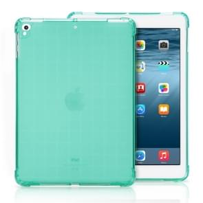 Transparent TPU Full Edge Thicken Corners Shockproof Soft Protective Case for iPad 9.7 (2018) / 9.7 (2017) / air / air2 (Mint Green)