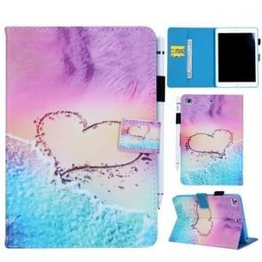 Hart patroon horizontale Flip lederen hoes voor de iPad mini 4 & 3 & 2 & 1  met houder & kaart sleuf & portefeuille