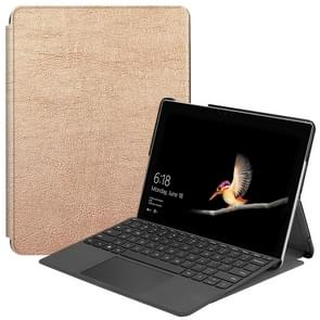 Custer Texture Laptop Bag Leather Case for Microsoft Surface Go(Gold)