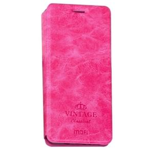 MOFI for  VINTAGE Xiaomi Redmi Note 4X Crazy Horse Texture Horizontal Flip Leather Case with Card Slot & Holder (Magenta)