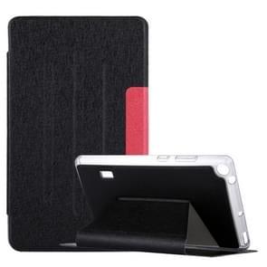 Voor Huawei MediaPad T3 7 zijde textuur horizontale Flip lederen draagtas met Holder(Black)