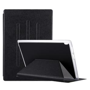 Voor Lenovo TAB4 TB-X304F & TB-X804F 10.1 inch Silk textuur horizontale Flip lederen draagtas met Holder(Black)