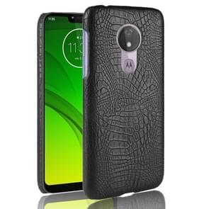 Schokbestendige krokodil textuur PC + PU geval voor Motorola Moto G7 Power (zwart)