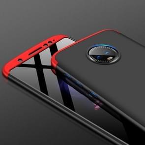 GKK drie fase Splicing volledige PC behuizing voor Motorola Moto G6 (zwart + rood)