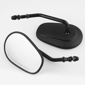 MB-MR008-BK Motorcycle Modified Rotatable Matt Rear View Mirror Set for Harley Davidson XL 883 1200