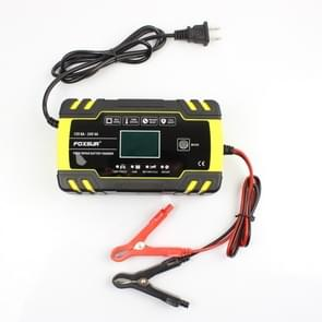 FOXSUR 12V-24V Car Motorcycle Truck Repair Battery Charger AGM Charger Charger, US Plug