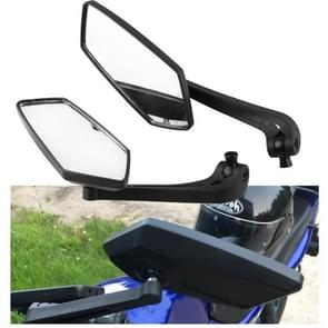 MB-MR012-BK 2 PCS Modified Motorcycle Reflective Side Rear View Mirrors for Motorcycle with 8mm and 10mm Screws(Black)