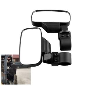MB-MR016-BK 2 PCS Motorcycle UTV Modified Side View Mirrors for UTV with 1.75 inch and 2 inch Roll Cage(Black)