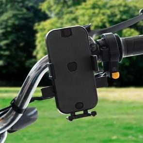 CS-344B1 Motorcycle Automatic Lock Mobile Phone Holder, Handlebar Version (Black)