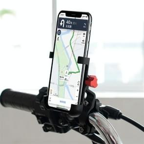 CS-896A1 Multi-function Motorcycle Aluminum Alloy Mobile Phone Holder (Black)