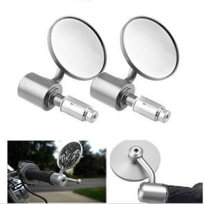 MB-MR009 gemodificeerde Motorcycle rearview reflecterende spiegel achteruitkijk zijspiegels (zilver)