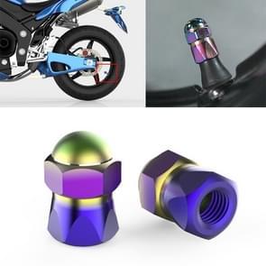 2 PCS Motorfietsen Gas Cap Mondstuk Cover Tire Cap Tire Valve Caps (Kleur)