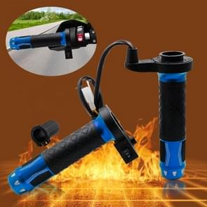 CS-764A2 12V Motorcycle Scooter Aluminum Alloy Electric Hand Grip Cover Heated Grip Handlebar(Blue)
