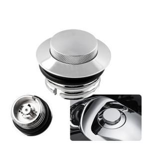 Motorfiets flush pop-up Gasdop met O-ring voor Harley Davidson (zilver)