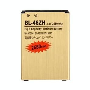 Voor LG K7 / LS675 BL-46ZH 2680mAh hoge capaciteit gouden oplaadbare Li-polymeerbatterij