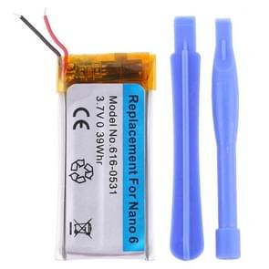 3.7V 0.39Whr Rechargeable Replacement Li-polymer Battery for iPod nano 6
