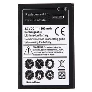 Voor Microsoft Lumia 430/BN-06 1800mAh oplaadbare Li-ion batterij
