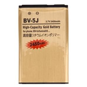 For Microsoft Lumia 435 / BV-5J 2450mAh High Capacity Gold Rechargeable Li-Polymer Battery