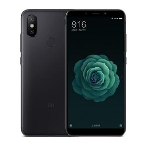 Xiaomi Mi 6X / A2, 6GB+64GB, Not Support Google Play, Dual AI Rear Cameras, Fingerprint Identification, 5.99 inch MIUI 9.0 Qualcomm Snapdragon 660 Octa Core up to 2.2GHz, Network: 4G, VoLTE, Dual SIM(Black)