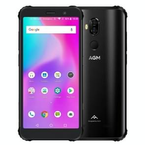 AGM X3 Rugged Phone, 8GB+128GB, IP68 Waterproof Dustproof Shockproof, Face ID & Fingerprint Identification, 4100mAh Battery, 5.99 inch Android 8.1 Qualcomm SDM845 Octa Core, Network: 4G, OTG, NFC, Wireless Charging(Black)