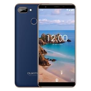 OUKITEL Pro C11, 3 GB + 16 GB, Dual back camera's, fingerprint identificatie, 5.5 inch Android 8.1 MTK6739 Quad Core tot 1.3 GHz, netwerk: 4G(Blue)