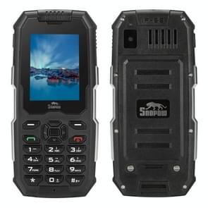 Snopow M2 Triple Proofing Phone, IP68 Waterproof Dustproof Shockproof, 2500mAh Battery, 2.4 inch, MTK6261D, Bluetooth, FM, Dual SIM(Black)