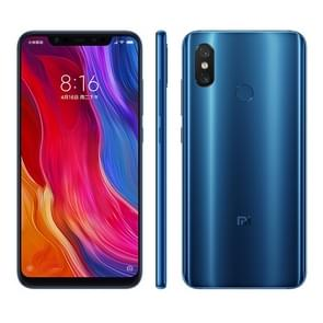 Xiaomi Mi 8, 6GB+128GB, Global Official Version, Dual AI Rear Cameras, Infrared Face & Fingerprint Identification, 6.21 inch AMOLED MIUI 9.0 Qualcomm Snapdragon 845 Octa Core up to 2.8GHz, Network: 4G, VoLTE, Dual SIM(Blue)