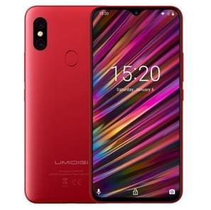 UMIDIGI F1, 4 GB + 128 GB, Dual back camera's, 5150mAh batterij, gezicht ID & fingerprint identificatie, 6.3 duim volledige scherm Android 9.0 MTK Helio P60 Octa Core omhoog naar de 2.0 GHz, netwerk: 4 G, OTG, NFC, Dual SIM (rood)