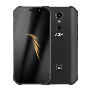 AGM A9 Rugged Phone, 4GB+32GB, IP68 Waterproof Dustproof Shockproof, Fingerprint Identification, 5400mAh Battery, 5.99 inch Android 8.1 Qualcomm SDM450 Octa Core, Network: 4G, OTG, NFC, JBL Sound (Black)