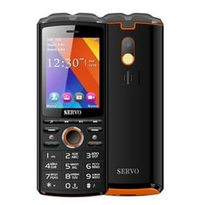 SERVO R25 Mobile Phone, 5500mAh Battery, 2.8 inch, 21 Keys, Support Bluetooth, FM, Flashlight, MP3 / MP4, GSM, Dual SIM, with Wireless Earphone Headset, Russian Keyboard (Black)