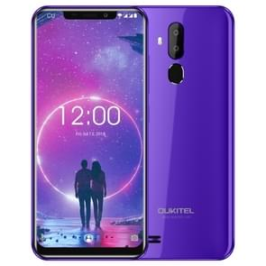 OUKITEL C12, 2GB+16GB, Dual Back Cameras, Face ID & Fingerprint Identification, 6.18 inch U-notch Screen Android 8.1 MTK6580 Quad Core up to 1.3GHz, Network: 3G(Purple)