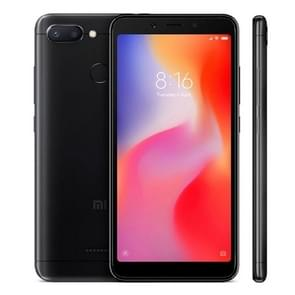 Xiaomi Redmi 6, 3GB+32GB, Global Official Version, AI Dual Back Cameras, Face & Fingerprint Identification, 5.45 inch MIUI 9.0 Helio P22 Octa Core up to 2.0GHz, Network: 4G(Black)