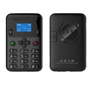 AEKU A6 Kids Card Mobile Phone, 0.96 inch Blue Screen, Spreadtrum6600,  GSM (Black)